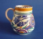 Poole Pottery PB Pattern 'Bluebird' Tankard c1930